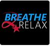 "Black background with Red white and blue text that reads, ""Breath 2 Realx"" this is a clickable image directed to the DHA Connected Health Mobile App information page"